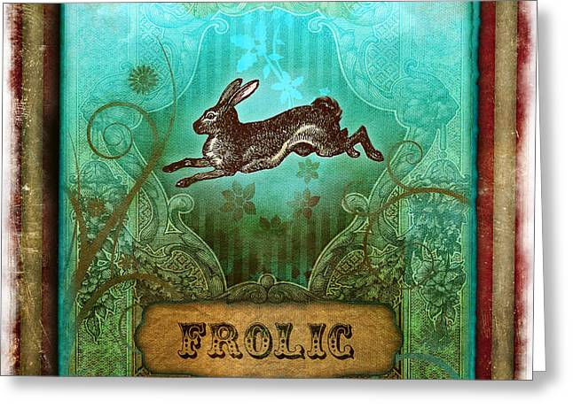Frolic Greeting Card by Aimee Stewart