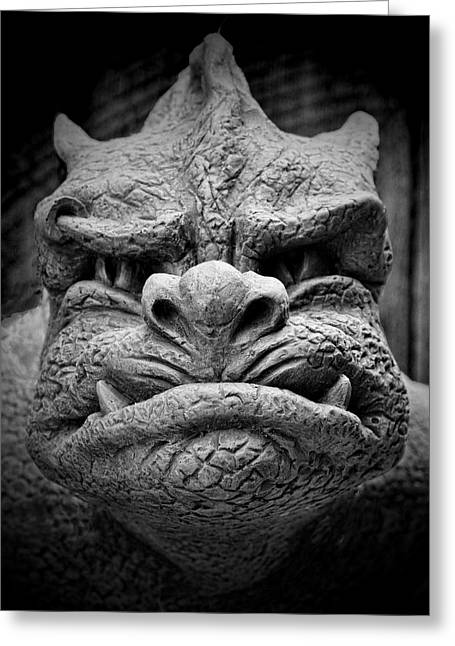 Garden Statuary Greeting Cards - From A Dark Dream II Greeting Card by K Hines