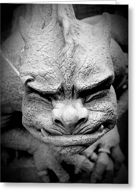 Garden Statuary Greeting Cards - From A Dark Dream Greeting Card by K Hines
