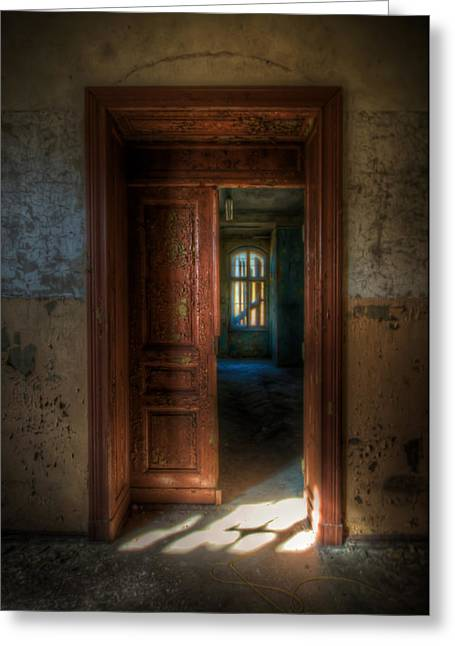 Creepy Digital Art Greeting Cards - From a door to a window Greeting Card by Nathan Wright