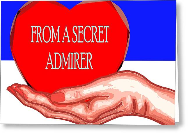 Buy Tshirts Mixed Media Greeting Cards - From A Secret Admirer Greeting Card by Patrick J Murphy