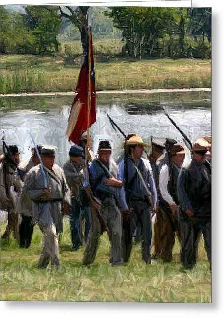 Civil War Site Digital Greeting Cards - From Camp to Battle - Richmond KY Greeting Card by Thia Stover