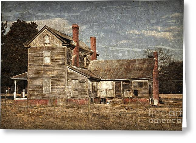 Clapboard House Greeting Cards - From Grand To Grunge Greeting Card by John Stephens