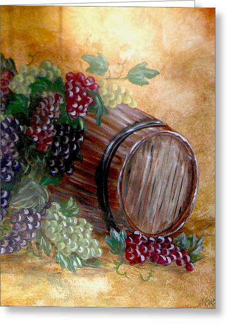 Faux Finish Greeting Cards - From grape to barrel Greeting Card by Nora Niles