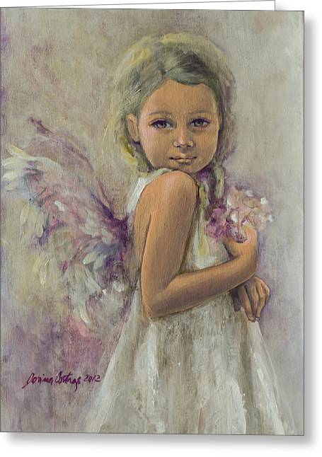 Live Paintings Greeting Cards - From Heaven... Greeting Card by Dorina  Costras