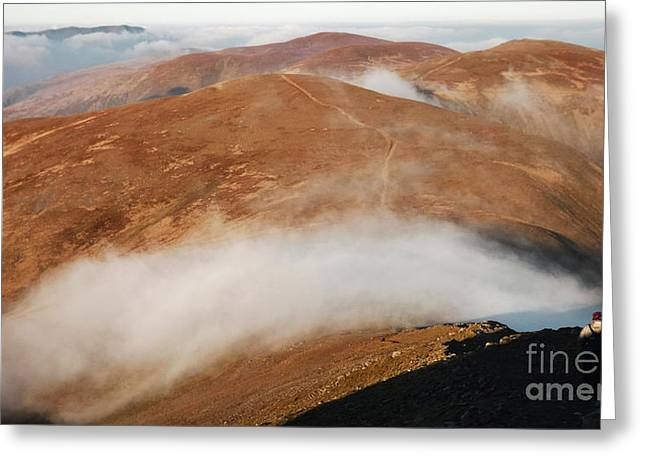 Wainwright Greeting Cards - From Helvellyn Greeting Card by Linsey Williams