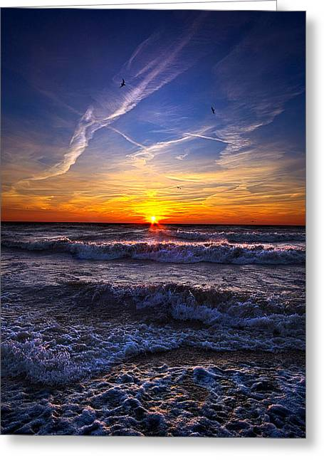 Geographic Greeting Cards - From Here On After Greeting Card by Phil Koch