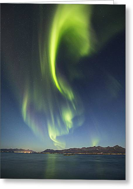 Astrophoto Greeting Cards - From horizon to zenith  Greeting Card by Frank Olsen