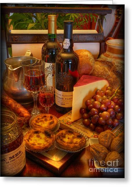 Cabernet Greeting Cards - From Lisbon with Love Greeting Card by Lee Dos Santos