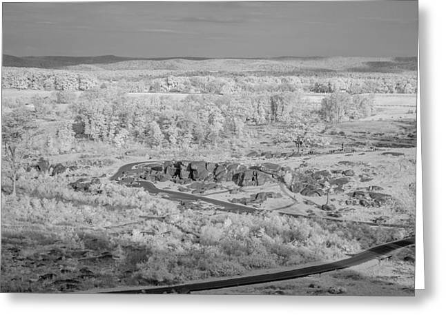 Devils Den Greeting Cards - From Little Round Top Greeting Card by Guy Whiteley