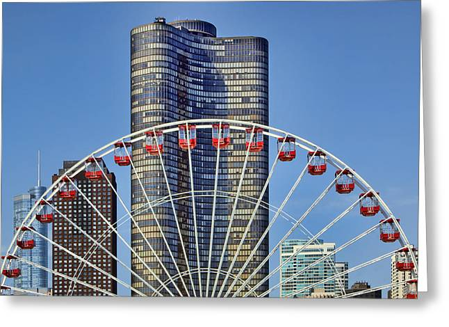 Tourist Site Greeting Cards - From Navy Pier Greeting Card by Nikolyn McDonald