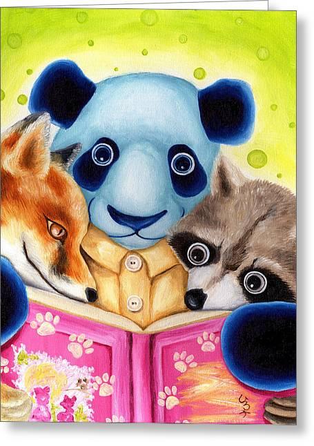 Mix Races Greeting Cards - From Okin the Panda illustration 10 Greeting Card by Hiroko Sakai