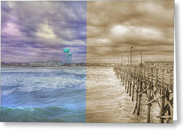 Topsail Island Greeting Cards - From Past to Present Greeting Card by Betsy C  Knapp