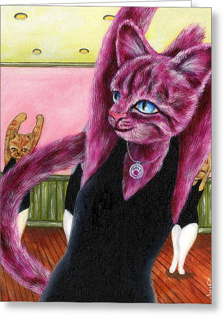 Dance Class Greeting Cards - From Purple Cat illustration 16 Greeting Card by Hiroko Sakai