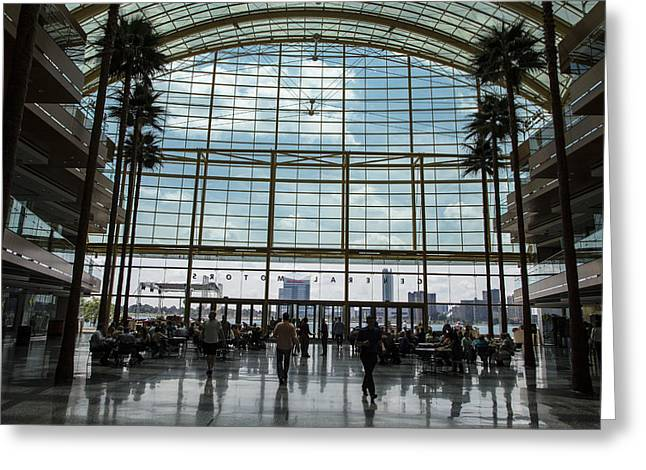 Renaissance Center Greeting Cards - From Renaissance to Windsor Greeting Card by John McGraw