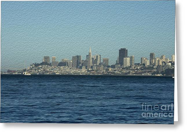 Sailboat Ocean Greeting Cards - From Sausalito Greeting Card by David Bearden