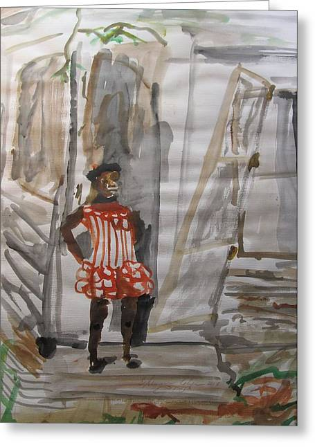 Slavery Paintings Greeting Cards - From Slavery to Penury Greeting Card by Esther Newman-Cohen
