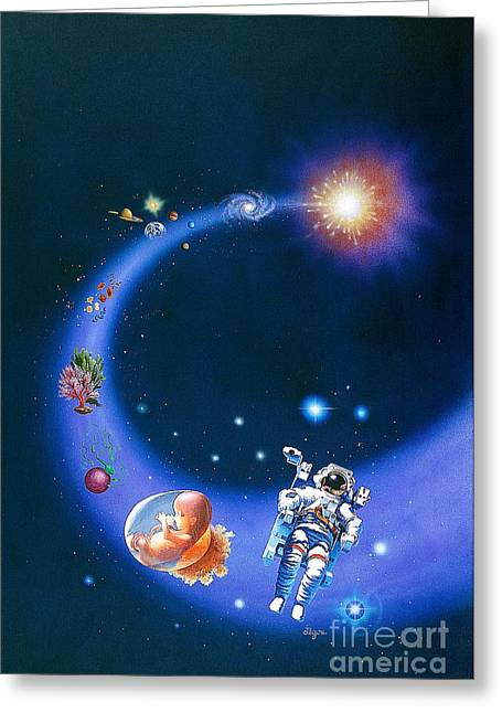 The Big Bang Greeting Cards - From The Big Bang To Space Exploration Greeting Card by Publiphoto