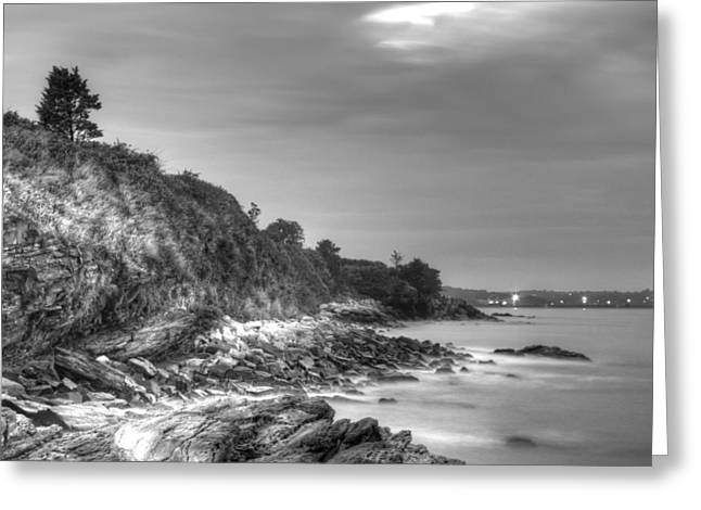 First Step Greeting Cards - From the Bottom of Forty Steps Newport Greeting Card by Andrew Pacheco