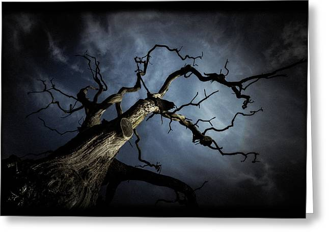 Evil Photographs Greeting Cards - From the darkness it came Greeting Card by Chris Fletcher