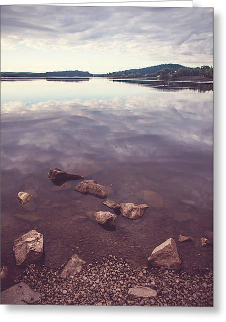 Spa Center Greeting Cards - From the Depth of Silence. Ladoga Lake  Greeting Card by Jenny Rainbow