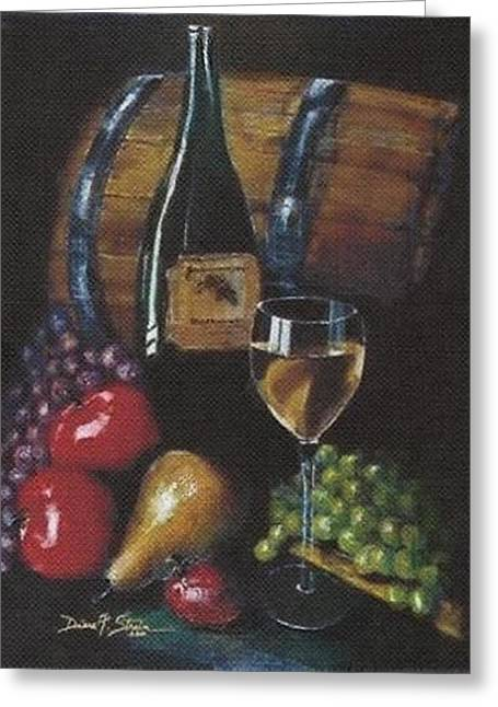 Beautiful Wine Grape Print Greeting Cards - From the Fruit to The Glass Greeting Card by Diane Strain