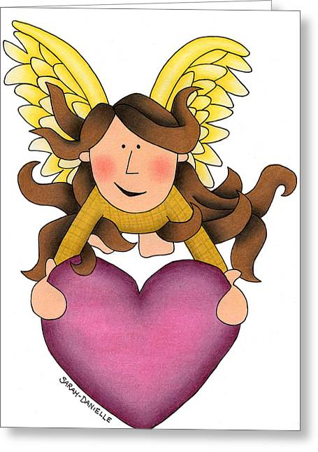 Hand Drawn Greeting Cards - From the heart Greeting Card by Sarah Batalka
