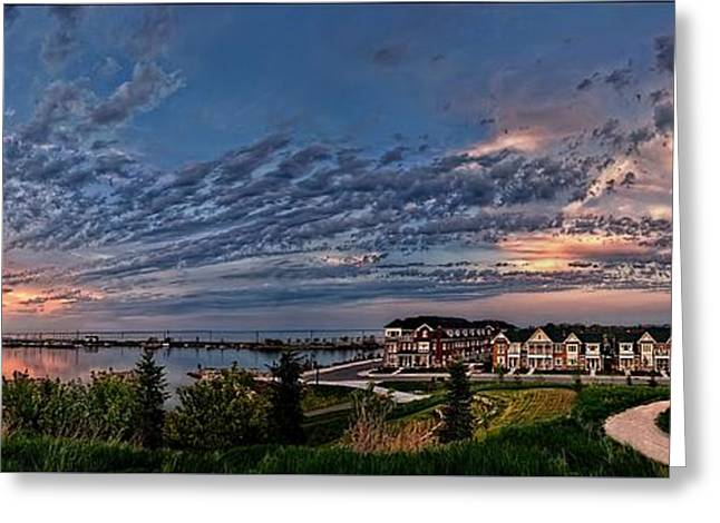 Beauty Mark Greeting Cards - From the hill panorama Greeting Card by Jeff S PhotoArt