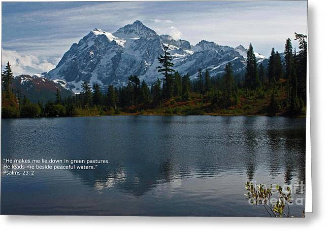 Scripture Cards Greeting Cards - From the hills Greeting Card by Rod Wiens