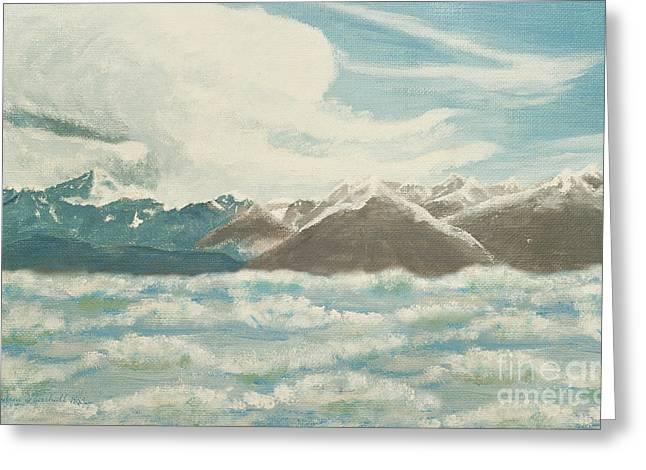 Ocean Art Photography Paintings Greeting Cards - From The Mountains To The Ocean Greeting Card by Andee Design