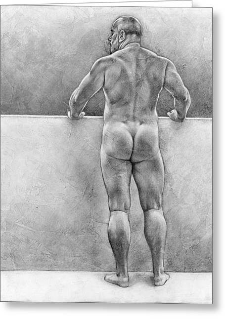 Original Drawing Greeting Cards - From the other side 4 Greeting Card by Chris  Lopez