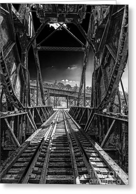 Train Bridges Greeting Cards - From The Other Side Greeting Card by Tim Wilson