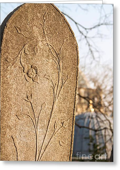 Headstones Greeting Cards - From the Past Greeting Card by Leyla Ismet