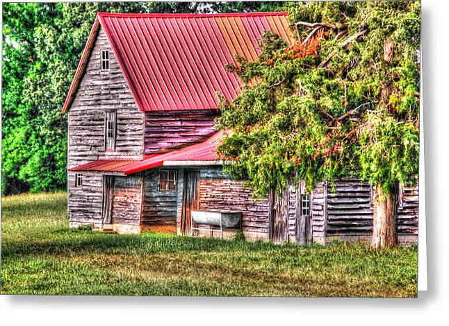 Tin Roof Greeting Cards - From the Past Greeting Card by Linda Segerson