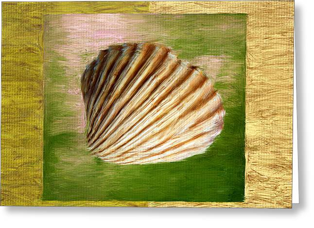 Seashell Digital Art Greeting Cards - From The Sea Greeting Card by Lourry Legarde