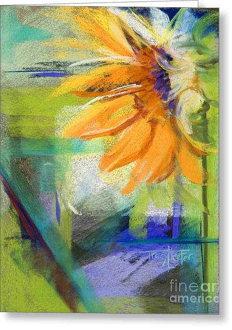 Sunflowers Pastels Greeting Cards - From the Soil Greeting Card by Tracy L Teeter