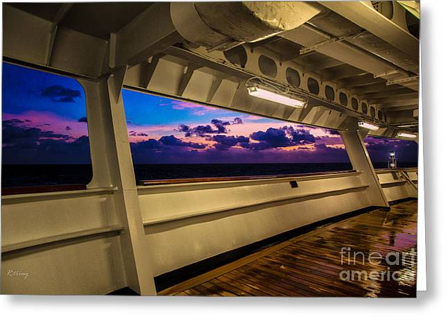 Wooden Ship Greeting Cards - From the Stern Looking Out Greeting Card by Rene Triay Photography