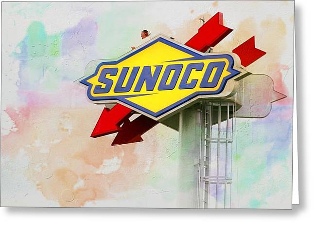 From The Sunoco Roost Greeting Card by Alice Gipson