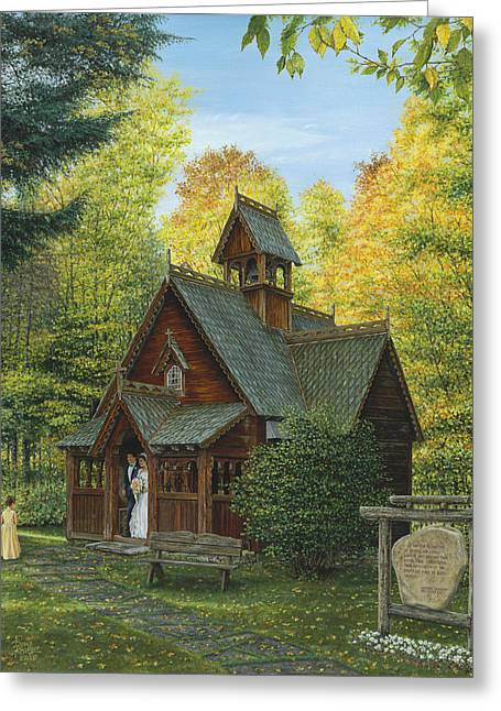 Original By ist Paintings Greeting Cards - From This Day Forward Greeting Card by Doug Kreuger