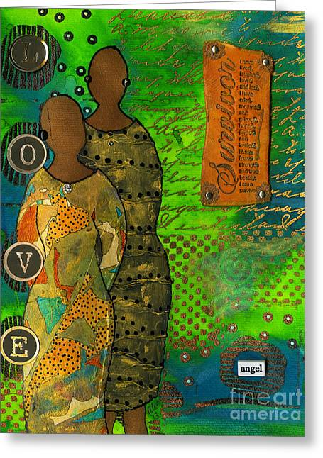 Survivor Art Greeting Cards - From Tragedy to Triumph-Were Still Standing Greeting Card by Angela L Walker