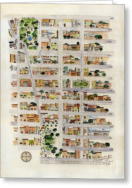 Recently Sold -  - Union Square Greeting Cards - From Union Square to Madison Square Greeting Card by Lynn Lieberman
