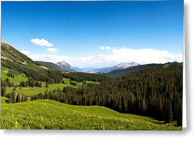 Crested Butte Greeting Cards - From Washington Gulch Road Looking Greeting Card by Panoramic Images