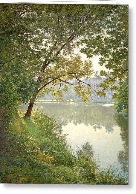 Photorealistic Paintings Greeting Cards - From Waters Edge Greeting Card by The Collection
