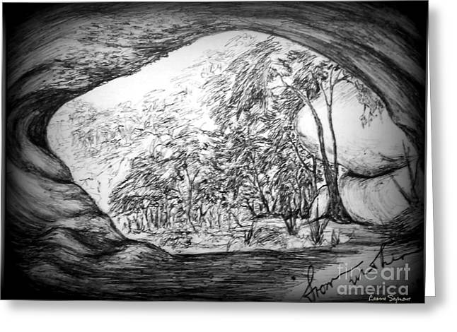 Within A Tree Greeting Cards - From Within 1 Greeting Card by Leanne Seymour