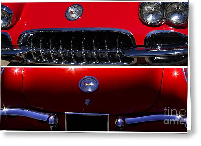Red Chev Greeting Cards - Front and Rear Greeting Card by Steven Parker