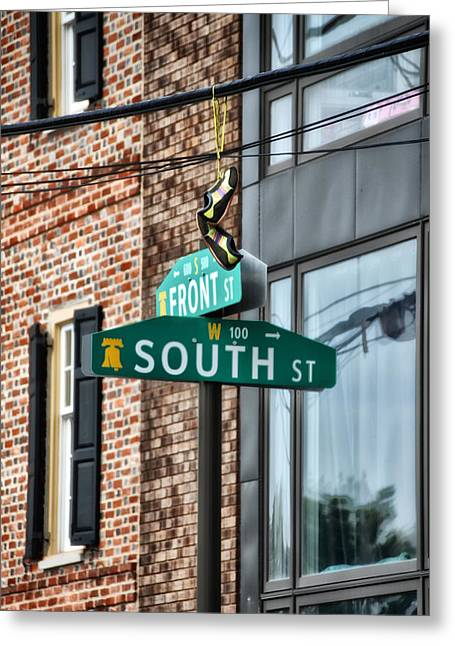 South Philadelphia Greeting Cards - Front and South Streets Greeting Card by Bill Cannon