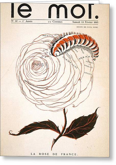 Firsts Drawings Greeting Cards - Front Cover Of Le Mot, 13th February Greeting Card by Paul Iribe
