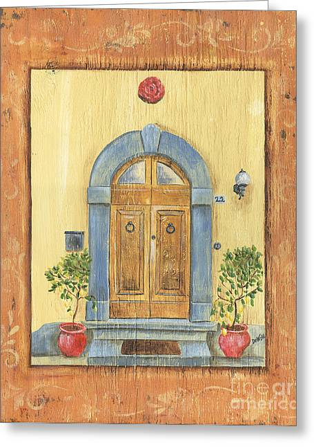 Mat Greeting Cards - Front Door 1 Greeting Card by Debbie DeWitt