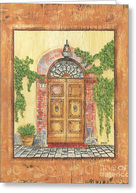 Mat Greeting Cards - Front Door 2 Greeting Card by Debbie DeWitt