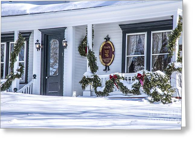Maine Farms Greeting Cards - Front Door Greeting Card by Alana Ranney